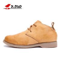 走索潮流男靴子英伦马丁靴保暖工装毛靴男士短靴加绒潮男鞋ZSD698M