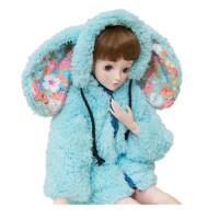 3分娃娃衣服60叶罗丽衣服 玩具配件 多色毛绒兔外套芭比娃娃 55-60码三分尺寸