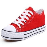 帆布鞋女2019春季内增高百搭韩版学生厚底街拍板鞋小白鞋球鞋