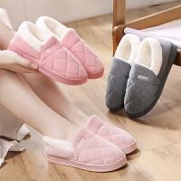 保暖棉拖鞋女居家室内外穿防滑情侣毛绒包跟棉拖鞋秋冬新款棉拖鞋