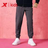 特步童装 男童裤运动长裤针织长裤682325639014