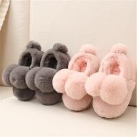 秋冬季儿童棉拖鞋男童女童宝宝亲子保暖包跟室内一家三口居家拖鞋