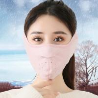 口罩女秋冬季保暖防寒二合一冬天男骑行加绒加厚透气防尘护脸耳罩