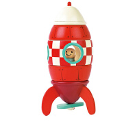 儿童拼搭玩具磁力拼接积木航天梦飞机火箭模型木质玩具
