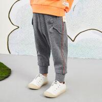 【6折价:183.06元】马拉丁童装女小童裤子春装2020年新款休闲百搭针织长裤收口裤