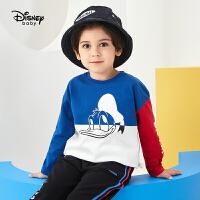 【3件4折券后预估价:47.6】迪士尼男童长袖多彩时光卡通针织时尚长袖T恤