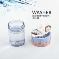 隐形眼镜旋转手动清洗器 迷你便携美瞳伴侣盒 方便镜片洗涤器
