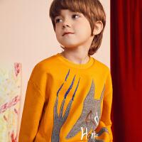 【6折价:191.4元】马拉丁童装男大童卫衣春装2020年新款洋气图案短款卫衣上衣