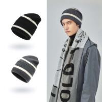 纯色羊毛帽子男士秋冬季韩版保暖毛线帽男冬天防寒休闲针织帽潮牌