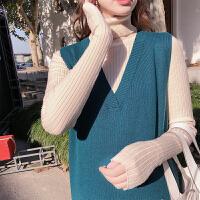 毛衣孕妇装冬装上衣 孕妇针织衫秋冬季高领保暖打底衫时尚宽松
