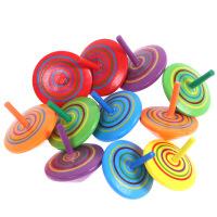桌面陀螺 怀旧木制彩色手动旋转陀螺 幼儿园户外休闲游戏桌面亲子传统玩具 木制小陀螺
