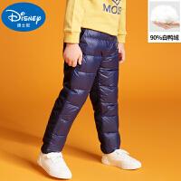 迪士尼儿童羽绒服宝宝冬季棉裤2019新款冬装男童保暖裤子小童夹裤