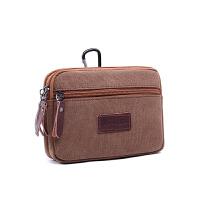 新款男士穿皮带手机腰包5.5寸5.7寸手机包袋零钱包挂休闲包帆布包
