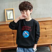 儿童T恤 男童秋装韩版2020新款中大童男孩秋季休闲运动圆领潮流长袖上衣