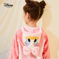 【3件3折券后预估价:78.9元】迪士尼女童加绒可爱连帽睡衣2020秋冬新款儿童宝宝卡通家居服套装