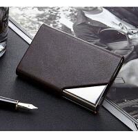 牛皮名片盒 创意名片盒 商务 男式女式皮名片夹刻字