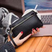 新款中年女士双层长款钱包手拿包女单肩斜跨小包手包零钱包女