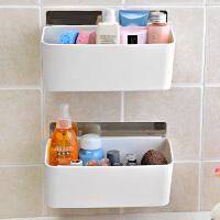 双庆强力浴室吸盘式置物架收纳厕所壁挂洗手间卫生间吸壁式置物架 此款为【两层】】