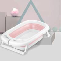 婴儿洗澡盆宝宝浴盆可坐躺折叠收缩便携式旅行大号加厚0-8岁大