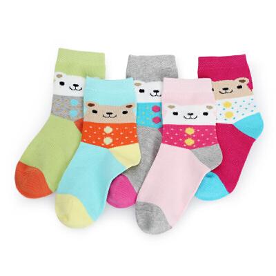 彩桥儿童棉袜女童袜子纯棉春秋款中大童袜子学生女孩棉袜子