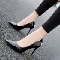 超高跟鞋女防水台尖头女鞋韩版时尚细跟高跟鞋女春季新款单鞋女