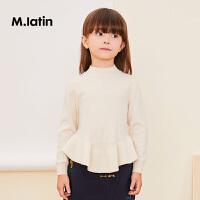 【2件88/3件8折后到手价:239.2元】马拉丁童装女大童毛衣冬装新款羊绒衫洋气长袖打底毛针织衫