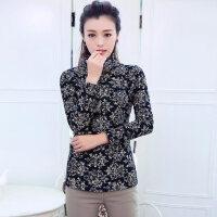 新款韩版时尚休闲女装加绒加厚长袖打底衫棉高领T恤