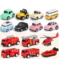 儿童玩具小汽车 小孩子幼儿合金回力模型套装男孩惯性宝宝消防工程1-2-3-4岁 送人 *生日礼物 回力车8件套+