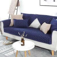 全棉布艺沙发垫四季通用纯色简约现代客厅沙发坐垫纯棉防滑沙发套