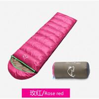 新款羽绒睡袋百搭成人睡袋休闲便携户外透气保暖信封野营睡袋