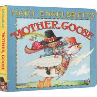 英文原版 Mother Goose �板�� ����恩格��布�特的�Z����童�{ �典�和��⒚赏��{�L本
