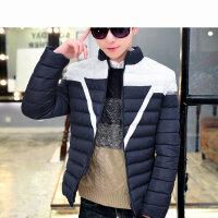 韩版修身新款时尚户外保暖男士棉衣学生立领外套