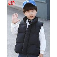 儿童马甲外穿男女童宝宝小童棉马夹中小童羽绒棉马甲