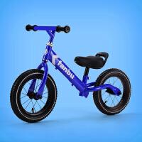 滑步车婴平衡车宝宝1-3-6岁无脚踏滑行车小孩溜溜学步自行车 宝蓝充气轮轴承前把 (2-6岁)
