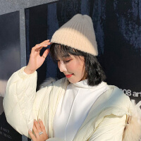 帽子女秋冬韩版时尚百搭ins可爱学生纯色日系保暖针织毛线帽