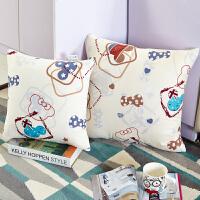 汽车抱枕被子两用空调被毯沙发靠垫被办公室午睡枕头被折叠小靠枕 米白色 米老鼠