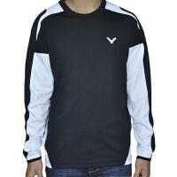 VICTOR/胜利 速干透气羽毛球服 男款 长袖针织圆领T恤 T-3202