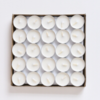 烛台少女心梦幻旋转香薰蜡烛台欧式浪漫烛光晚餐道具杯装饰品摆件 白色蜡烛 一盒50个