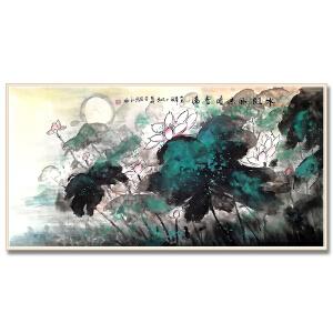 中国美术家协会会员 罗科通 《水殿风来暗香满》