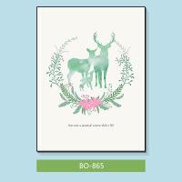 客厅北欧现代简约挂画 小清新沙发背景装饰画 绿色春天蝴蝶文艺卧室墙画 BO866