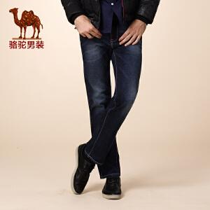 骆驼男装 秋季新款微弹中低腰小直脚 青年时尚休闲长牛仔裤男