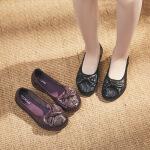 中老年牛皮妈妈鞋新款真皮单鞋女复古手工鞋皮鞋防滑舒适孕妇鞋