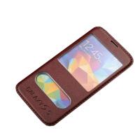 坚达 手机套 保护套  薄翻盖手机皮套 适用于三星s5 i9600羊皮套g9008v/g9006v/i9600皮套