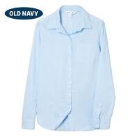 OLD NAVY 女装 纯棉舒适单袋长袖衬衫 120449
