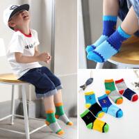 男童袜子春秋7-9岁男孩10岁以上小学生弹力秋冬中筒儿童棉袜