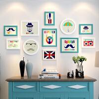 相框创意挂墙组合7 10寸简约实木画框摆台洗照片加相框照片墙装饰 组合一套价