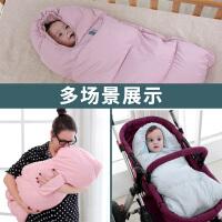 抱被用品秋冬款冬季宝宝睡袋两用婴儿包被厚初生襁褓外出
