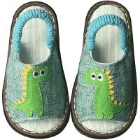 夏儿童拖鞋布男童防滑宝宝幼儿亚麻室内鞋