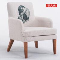 北欧沙发咖啡西餐厅奶茶甜品店布沙发简约休闲办公室洽谈桌椅组合双人卡座