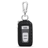 鳄鱼纹男士汽车钥匙包欧美双层腰挂拉链天窗锁匙包